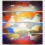 Set of modern vector banners. Abstract Royalty Free Stock Photography