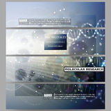 Set of modern vector banners. DNA molecule Royalty Free Stock Images