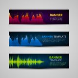 A set of modern vector banners Royalty Free Stock Photos