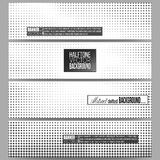 Set of modern vector banners. Halftone background. Black dots on white Royalty Free Stock Photography