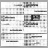 Set of modern vector banners. Halftone background. Black dots on white Royalty Free Stock Images