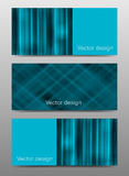 Set of modern vector banners with hape Royalty Free Stock Images