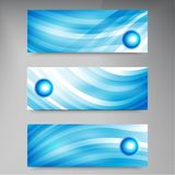 Set of modern vector banners with lines Stock Photos