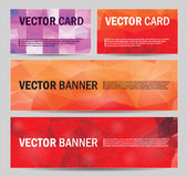 Set of modern vector banners with polygonal Royalty Free Stock Photos