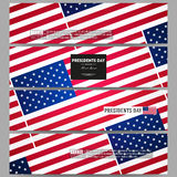 Set of modern vector banners. Presidents day Royalty Free Stock Image