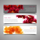 A set of modern vector banners. Stock Photo