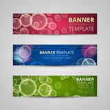 A set of modern vector banners Royalty Free Stock Image