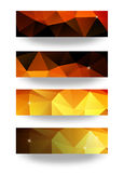 Set of modern vector banners with triangle background Stock Photos