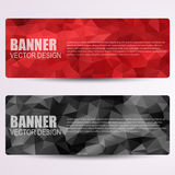 Set of modern vector banners with triangles Stock Photos