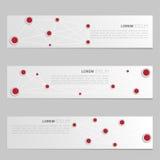 A set of modern vector banners Stock Photos