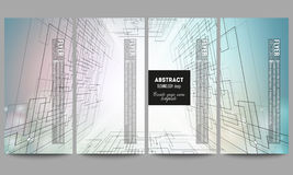 Set of modern vector flyers. Abstract background Stock Photography
