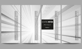 Set of modern vector flyers. Abstract lines background, simple abstract monochrome texture Stock Photography
