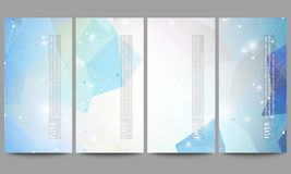 Set of modern vector flyers. Abstract multicolored Royalty Free Stock Photography