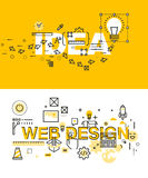 Set of modern vector illustration concepts of words idea and web design Stock Image