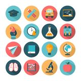 Set of modern vector school icons Royalty Free Stock Photography