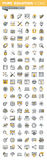 Set of modern vector thin line design and website development icons Royalty Free Stock Photos