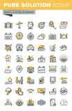 Set of modern vector thin line travel icons Royalty Free Stock Image