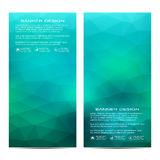 Set of modern vertical banners with triangles. Geometric abstract background. Business and website templates. Vector. Illustration Royalty Free Stock Photos