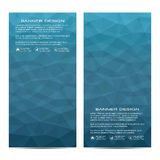 Set of modern vertical banners with triangles. Geometric abstract background. Business and website templates. Vector Royalty Free Stock Images