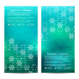 Set of modern vertical scientific banners. Molecule structure of DNA and neurons. Abstract background. Medicine, science Stock Photography