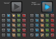 Set of modern web buttons Stock Images