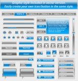 Set of modern web elements Stock Photography