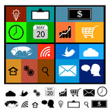 Set modern web icons for mobile. Devices and contemporary interfaces Stock Photos