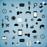 Set modern web icons for tablet Royalty Free Stock Photography