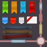 Set of modern web ribbons Royalty Free Stock Photo