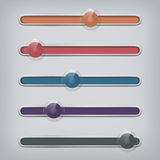 Set of modern web sliders - rollovers Royalty Free Stock Image