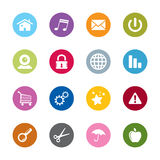 Modern web icons. Set of modern  web universal icons. 16 different colors Stock Image