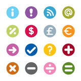 Modern web icons. Set of modern web universal icons. 16 different colors vector illustration