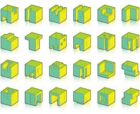 Set of modified cubes Stock Photography
