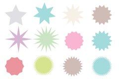 Set modne formy retro gwiazdy projektów elementów Sunburst promienieje fajerwerk Najlepszy dla sprzedaż majcheru, metka ilustracja wektor