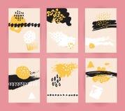 Set modni abstrakcjonistyczni tła ilustracja wektor