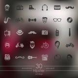 Set modniś ikony Obrazy Royalty Free