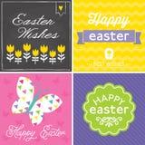 Set modnisia Easter typograficzne karty Fotografia Stock