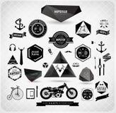 Set modnisia rocznika retro etykietka ilustracji