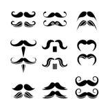 Set modnisia wąsy Zdjęcia Stock