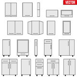 Set of Modular kitchen objects. Royalty Free Stock Image