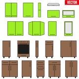 Set of Modular kitchen objects. Royalty Free Stock Image