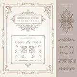 Set of modular Vector Retro Ornaments royalty free illustration
