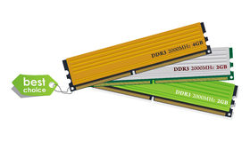 Set Module des Speichers DDR3 Lizenzfreie Stockfotos