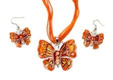 Set mody biżuteria w formie motyla Obraz Royalty Free