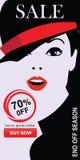 Set mody sprzedaży sztandary ilustracji