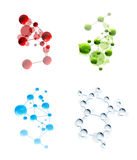 Set of molecules Royalty Free Stock Images