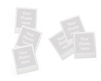 Set of momentary photo frames Royalty Free Stock Photos