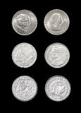 Set of monarchical countries coins Stock Photo