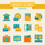 Set of money and banking icons Stock Photo