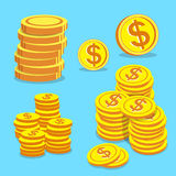 Set of money coins vector Stock Photo